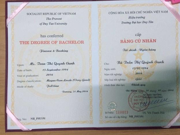 làm bằng cao đẳng lấy nhanh tại Bình Thuận 0938.229.015