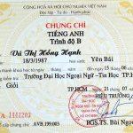 Mua chứng chỉ anh văn giá 1 triệu tại Nha Trang