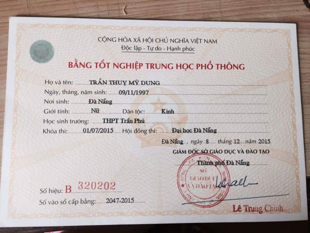 làm bằng trung cấp giá rẻ tại Phú Yên 0938.650.516