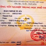 Làm bằng cấp 3 uy tín giá rẻ tại Bình Định