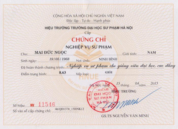 Làm chứng chỉ nghề tại Hà Giang 2020