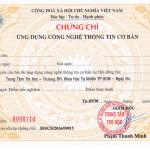 Làm chứng chỉ ứng dụng CNTT cơ bản tại Hà Nội